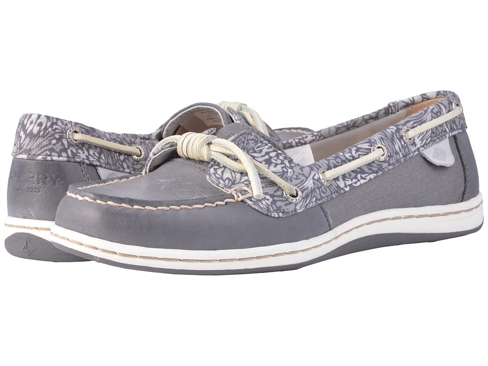 Sperry - Barrelfish Animal Print (Dark Grey) Women's Slip on Shoes
