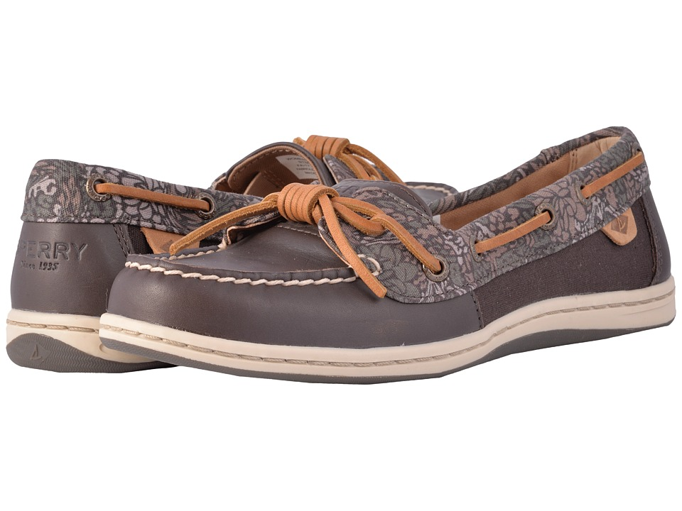 Sperry - Barrelfish Animal Print (Dark Brown) Women's Slip on Shoes