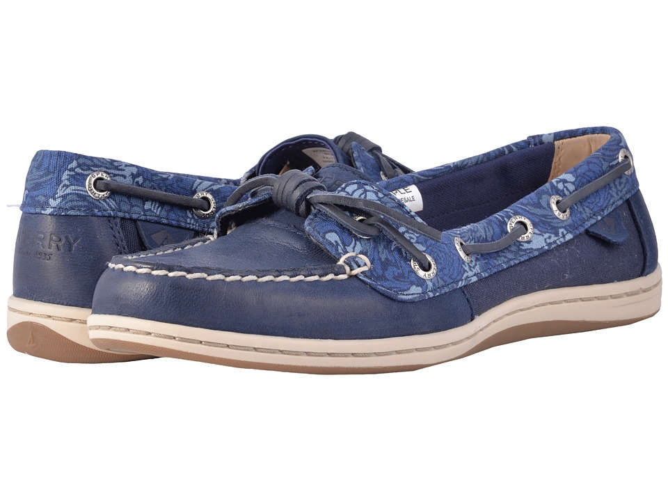 Sperry - Barrelfish Animal Print (Navy) Women's Slip on Shoes