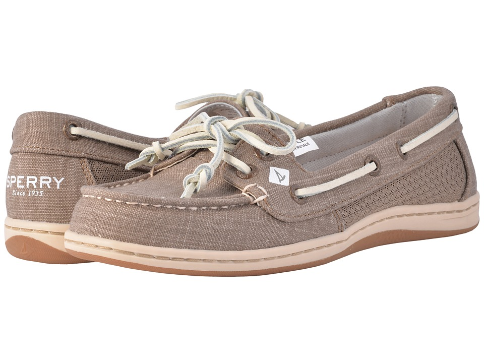 Sperry - Firefish Scratch Linen (Taupe) Women's Slip on Shoes