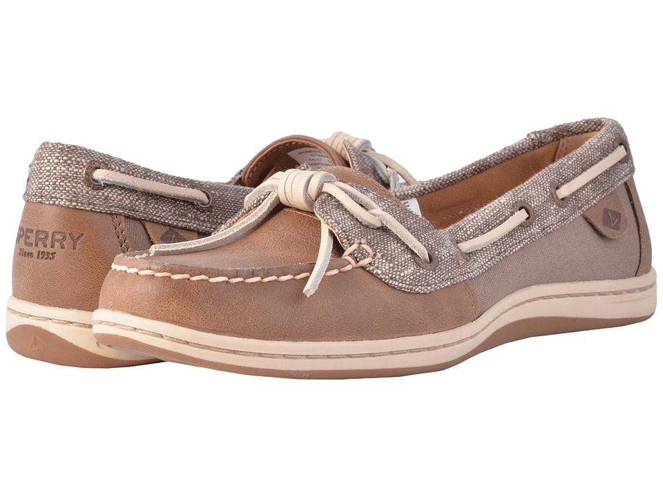Sperry - Barrelfish Heavy Linen (Taupe) Women's Lace up casual Shoes