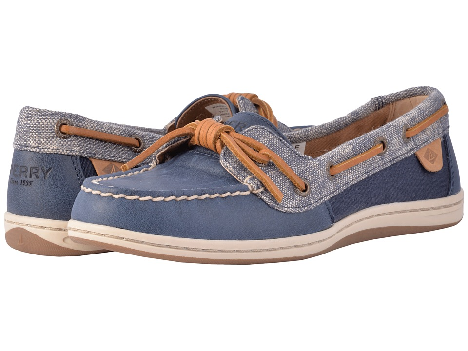 Sperry Barrelfish Heavy Linen (Navy) Women