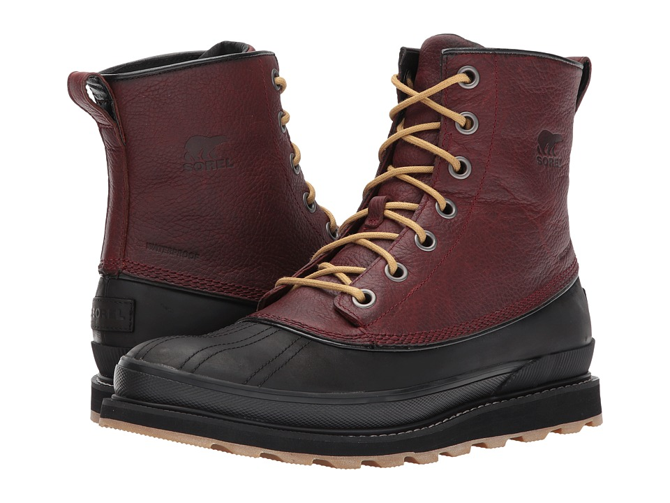 SOREL Madson 1964 Waterproof (Rustic Brown/Black) Men's Waterproof Boots