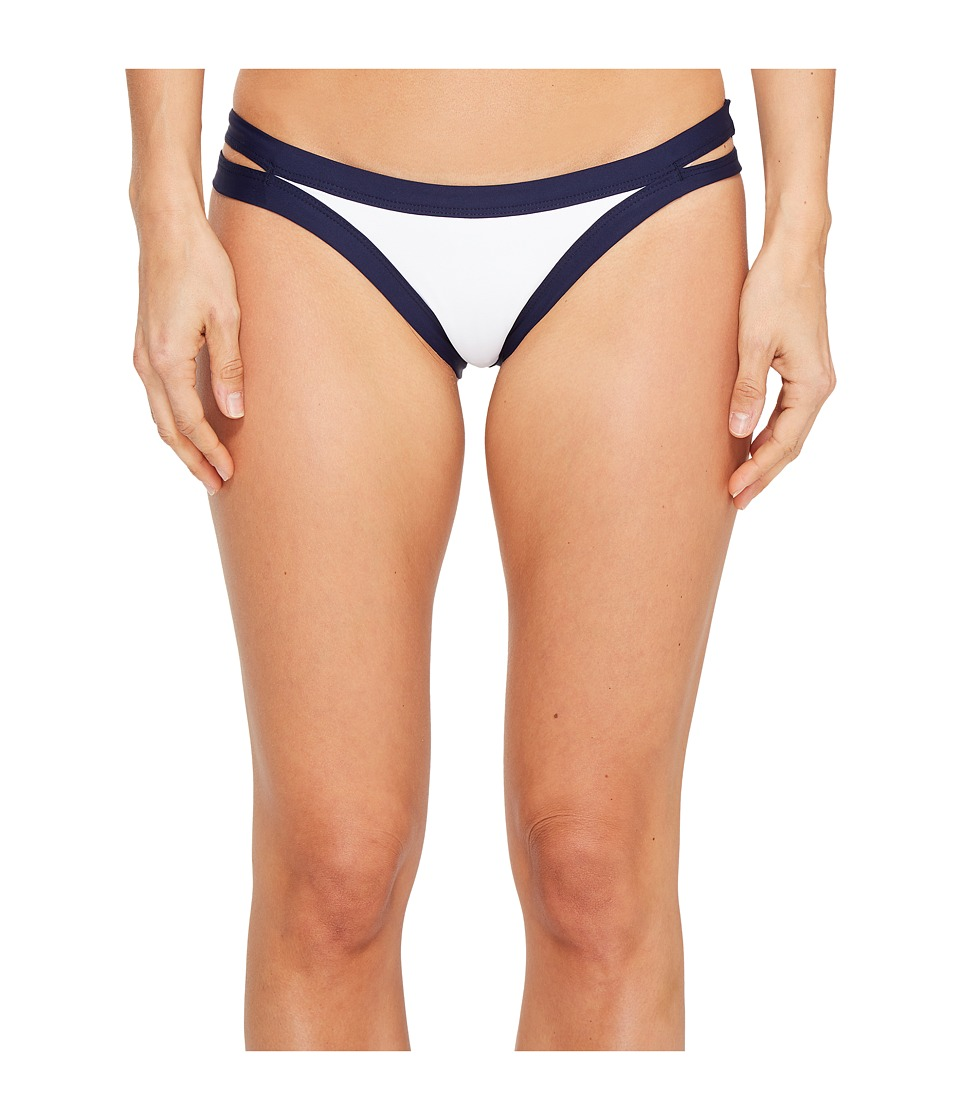 L*Space - Color Block Charlie Bottom (Midnight/White) Women's Swimwear