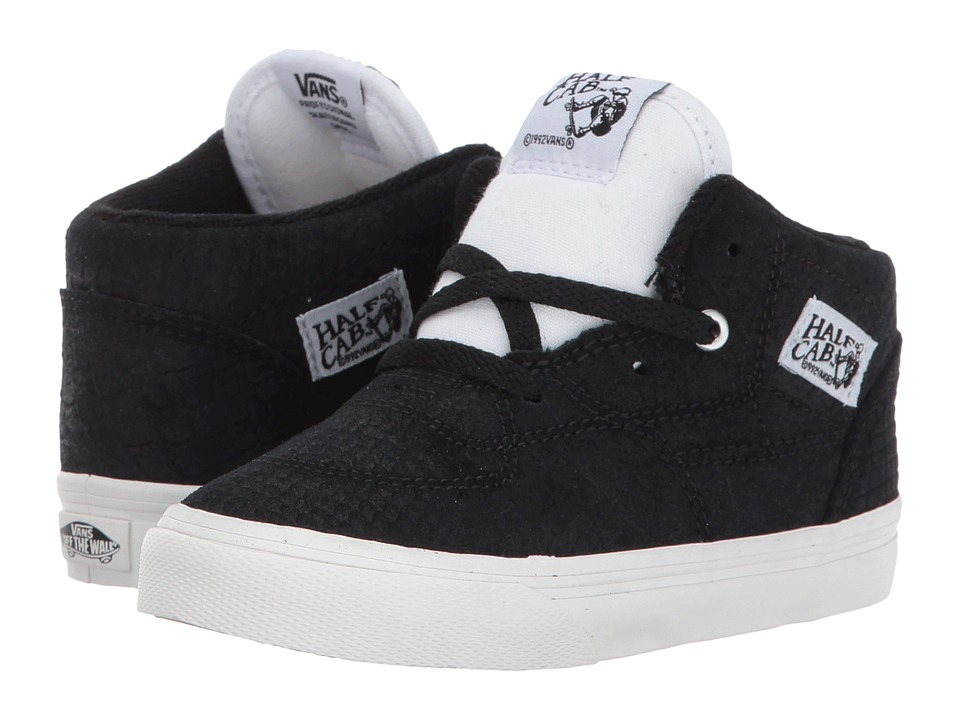Vans Kids - Half Cab (Toddler) ((Snake) Black/Blanc) Boys Shoes