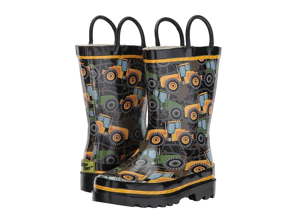 Western Chief Kids Tractor Tough Rain Boots (Toddler/Little Kid/Big Kid) (Black) Boys Shoes