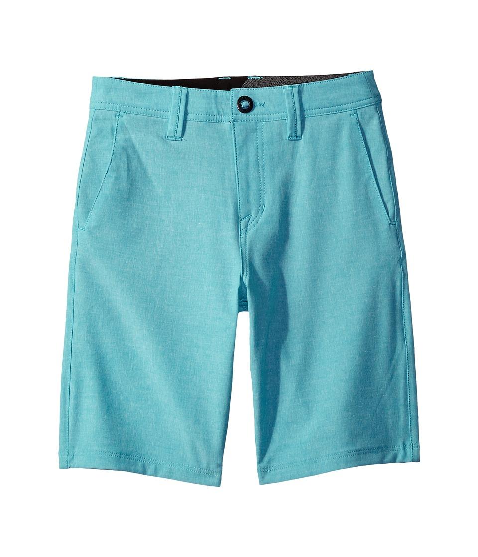 Volcom Kids - Frickin SNT Static Shorts (Big Kids) (Aqua) Boy's Shorts