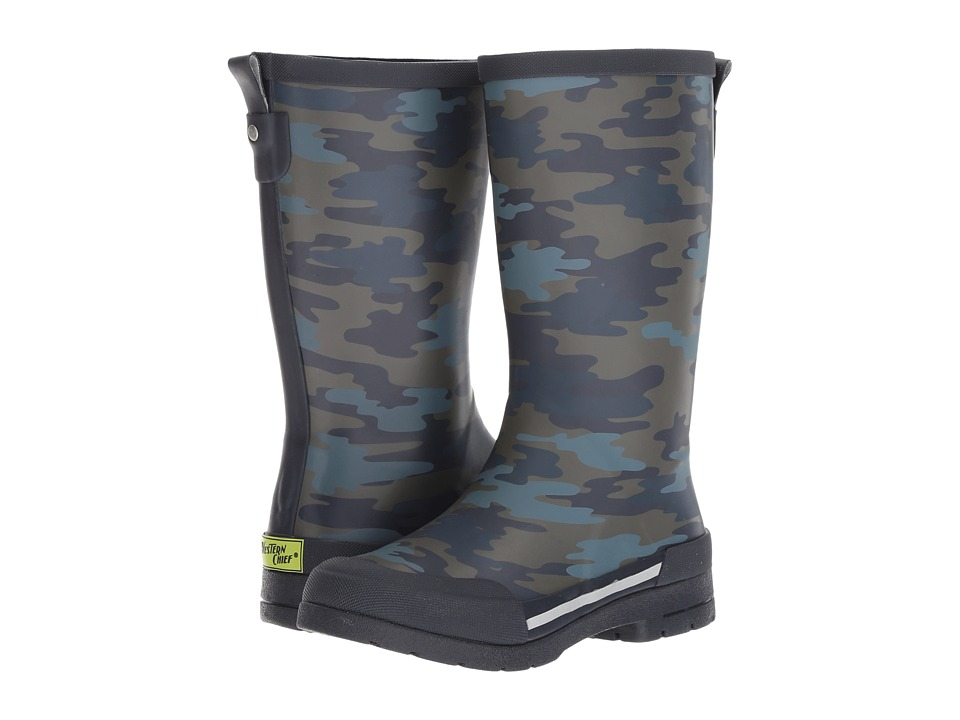 Western Chief Kids Classic Ex Camo Rain Boots (Little Kid/Big Kid) (Navy) Boys Shoes