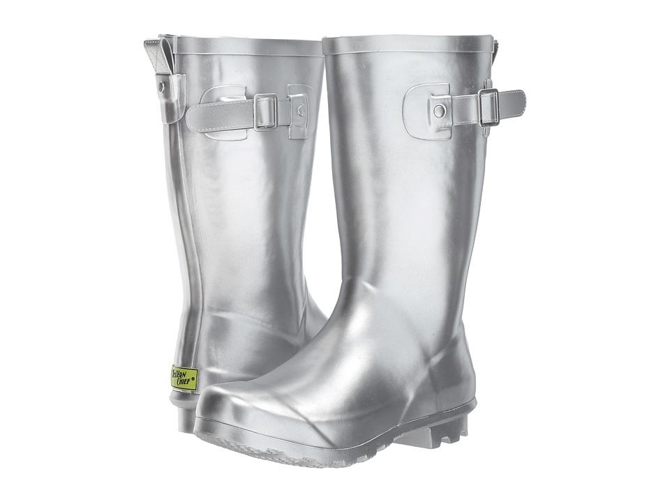 Western Chief Kids Classic Tall Rain Boots (Little Kid/Big Kid) (Metallic Silver) Girls Shoes