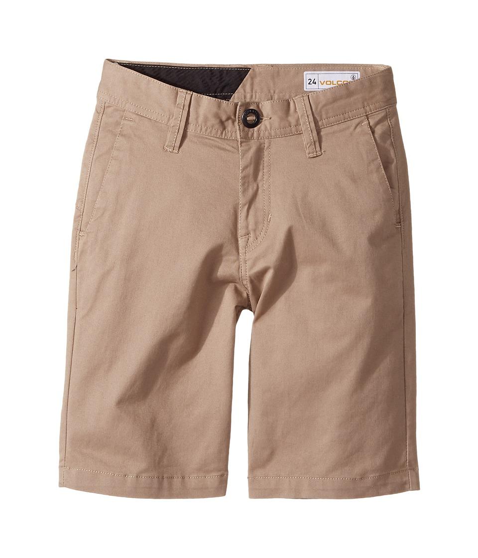 Volcom Kids - Frickin Lightweight Shorts (Big Kids) (Beige) Boy's Shorts