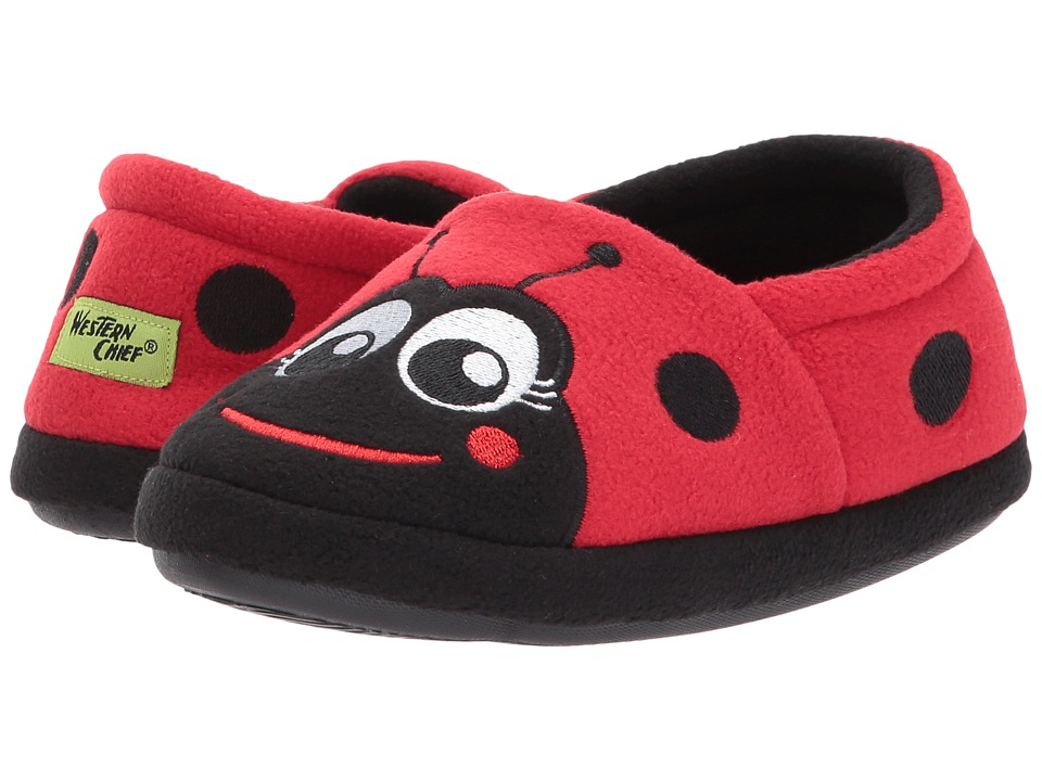 Western Chief Kids Ladybug Slippers (Toddler/Little Kid) (Red) Girls Shoes