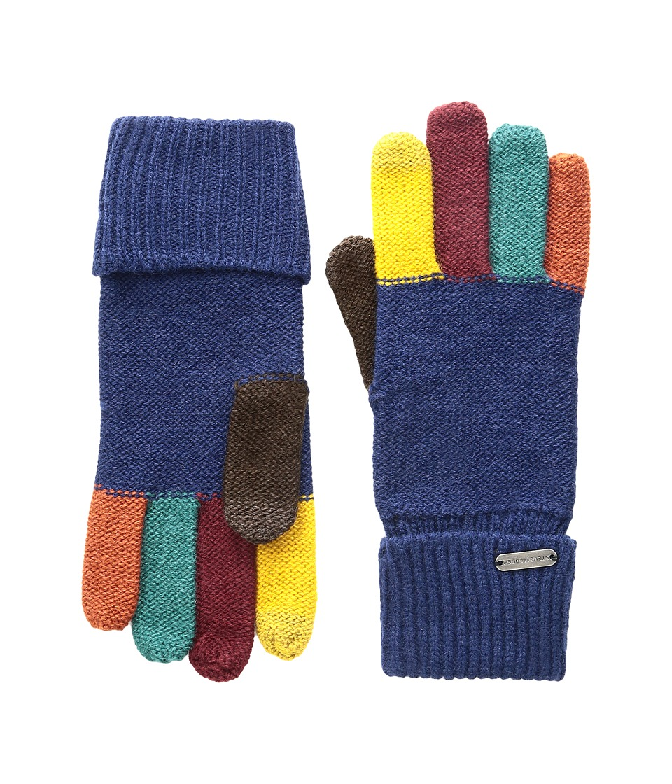 Steve Madden - Color Block Boyfriend Gloves (Navy) Extreme Cold Weather Gloves