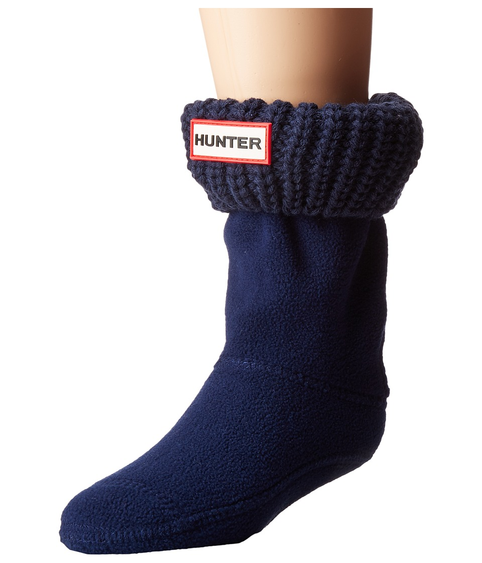 Hunter - Half Cardigan Boot Sock (Toddler/Little Kid/Big Kid) (Bright Navy) Women's Crew Cut Socks Shoes
