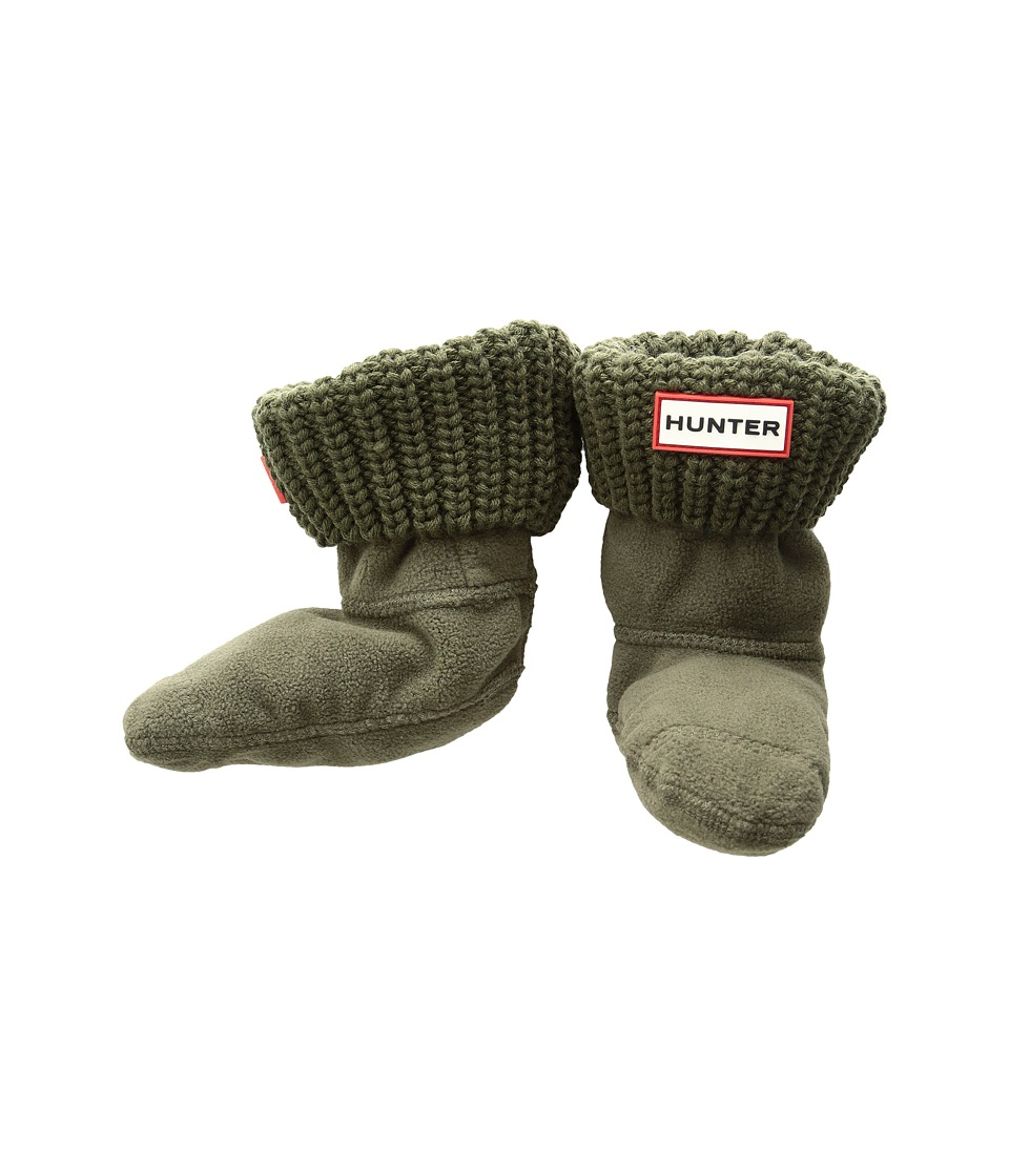 Hunter - Half Cardigan Boot Sock (Toddler/Little Kid/Big Kid) (Swamp Green) Women's Crew Cut Socks Shoes