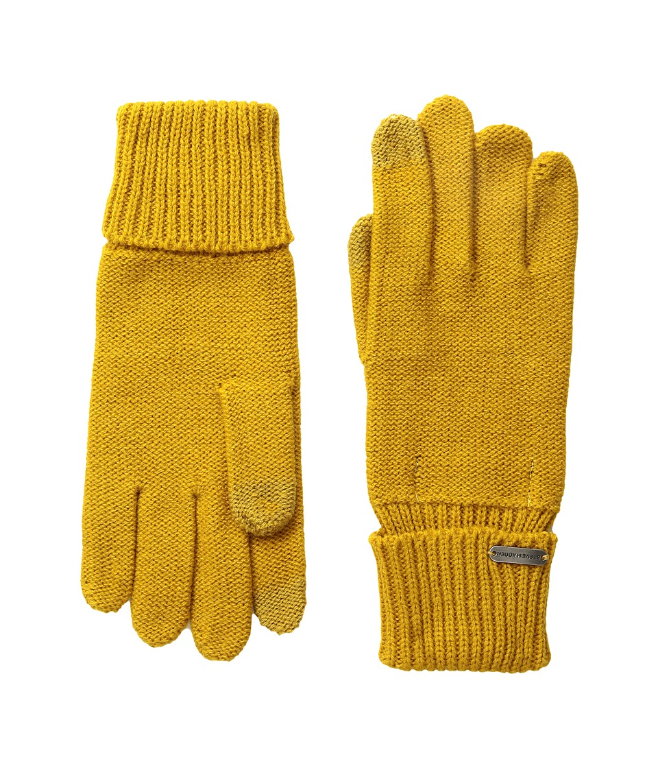 Steve Madden - Solid Boyfriend Gloves (Mustard) Extreme Cold Weather Gloves