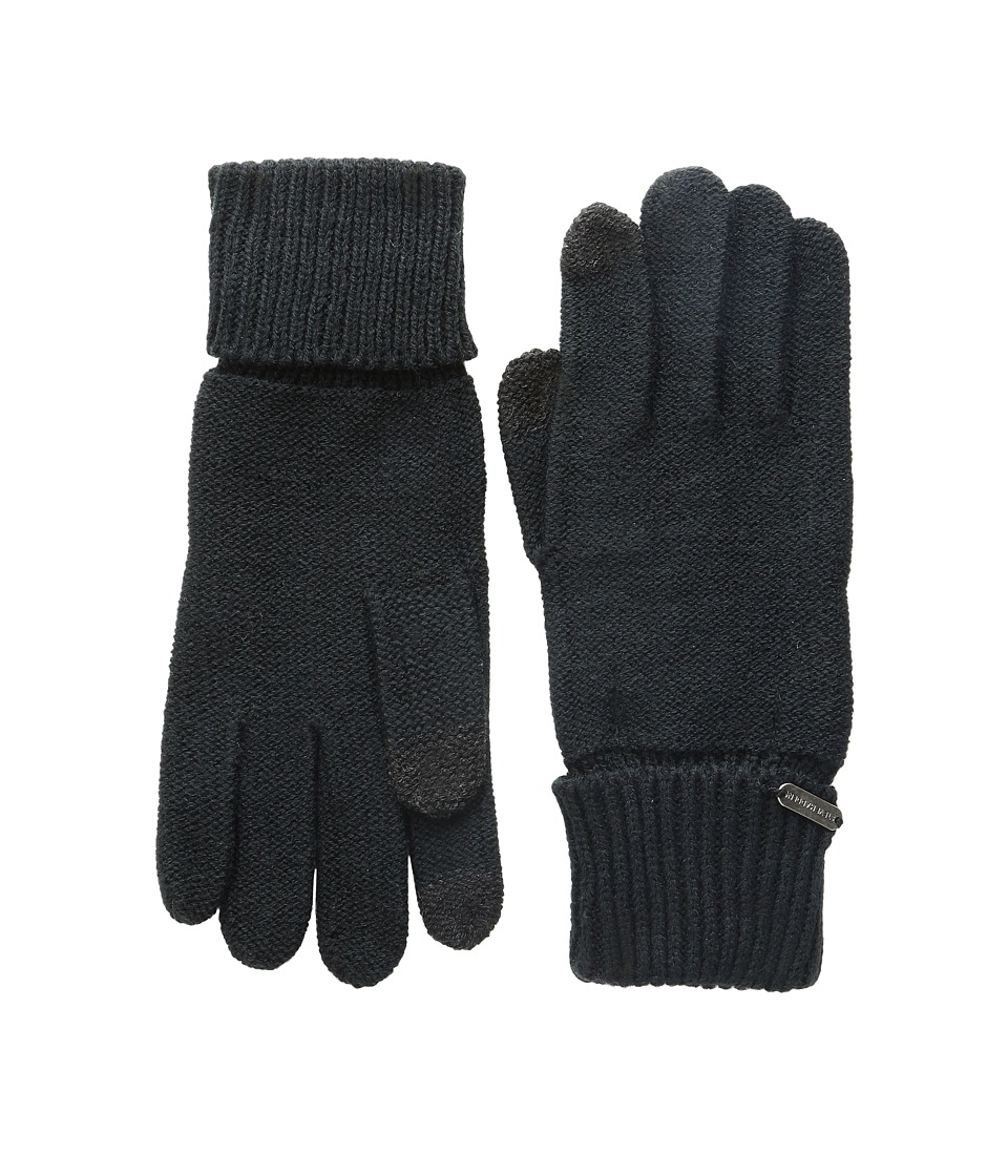 Steve Madden - Solid Boyfriend Gloves (Black) Extreme Cold Weather Gloves