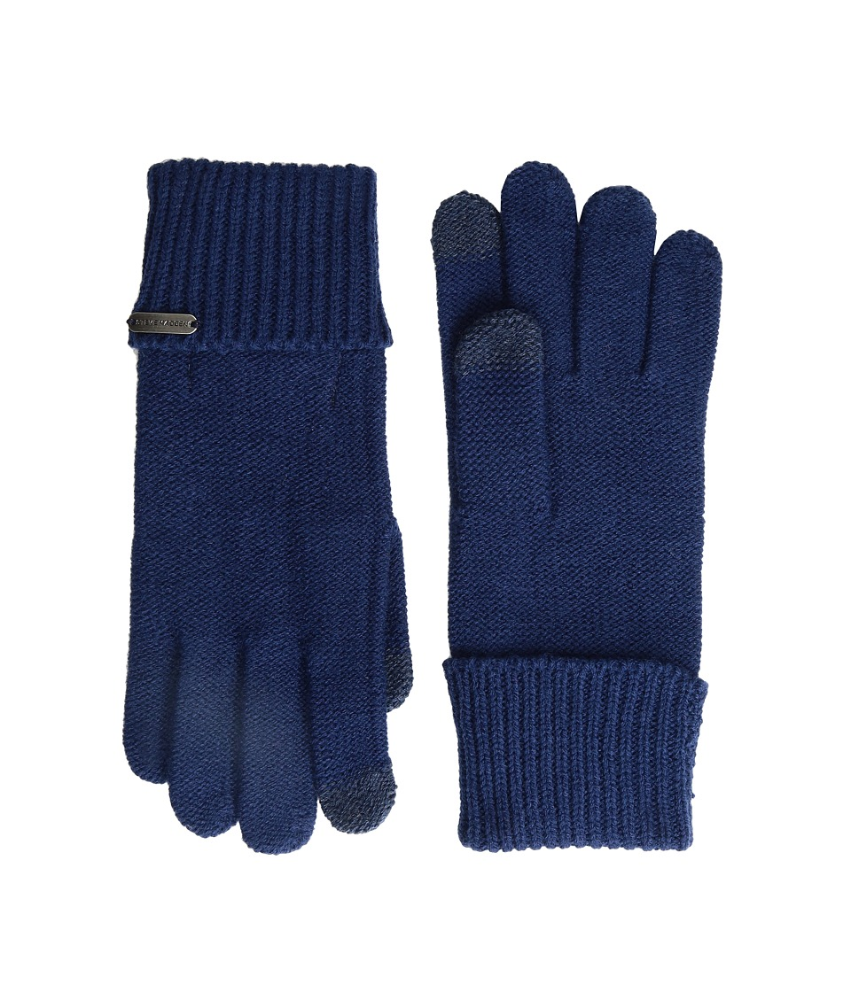 Steve Madden - Solid Boyfriend Gloves (Navy) Extreme Cold Weather Gloves