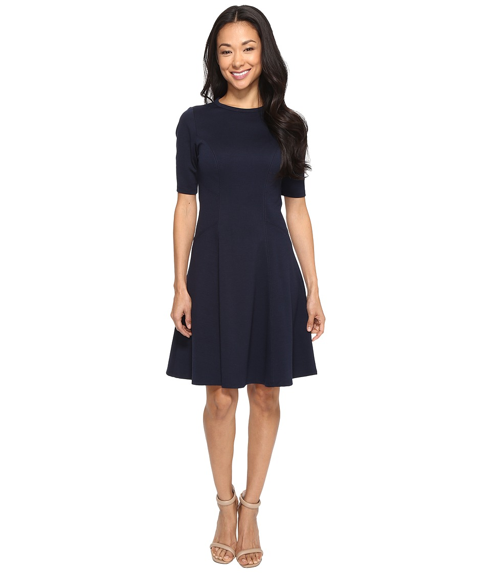 Christin Michaels Ella Short Sleeve Ponte Dress