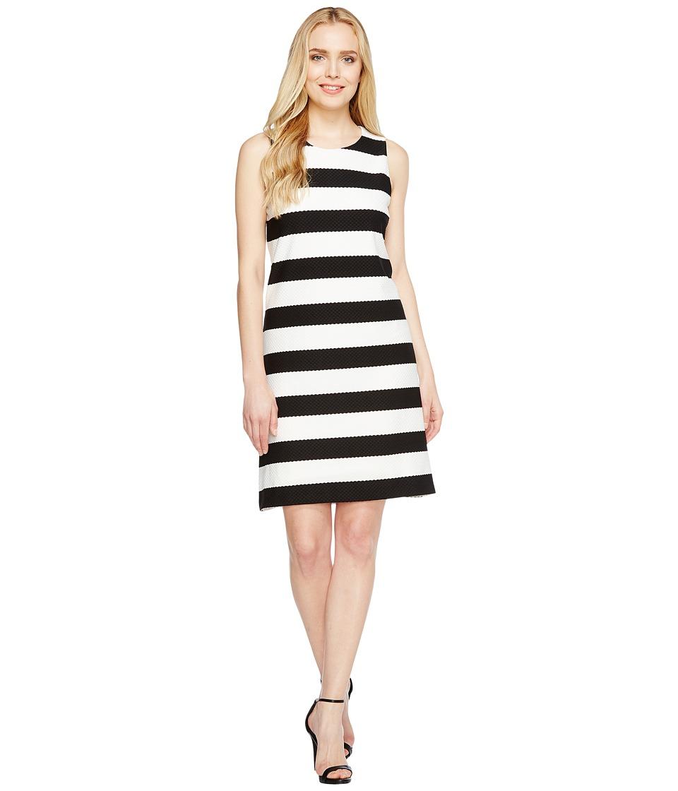 Christin Michaels Exi Striped Shift Dress (Black/White) Women