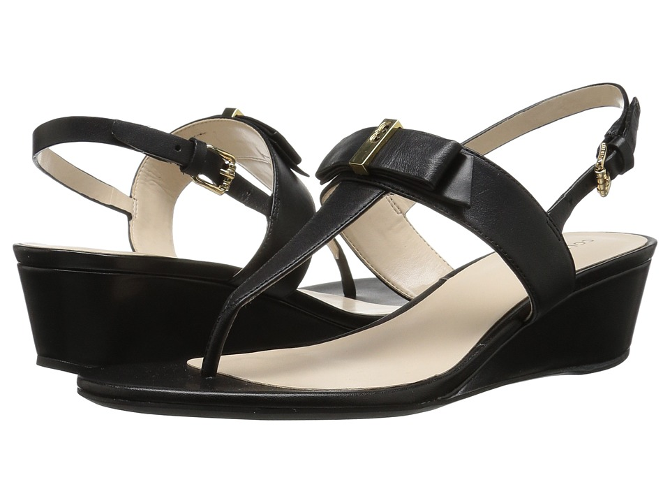 Cole Haan - Elsie Hardware Sandal II (Black Leather) Women's Sandals