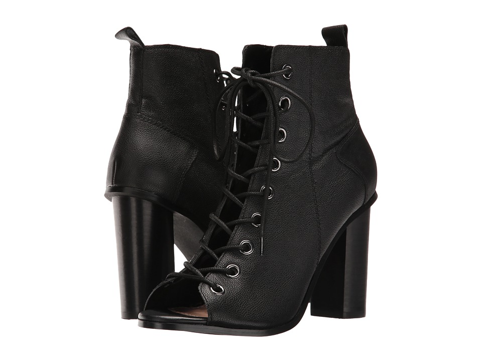 Steve Madden - Ruins (Black Leather) Women's Lace-up Boots