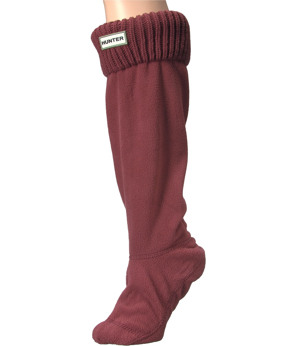 Hunter - Field Tall Boot Sock Rib Cuff (Red Chestnut) Women's Crew Cut Socks Shoes