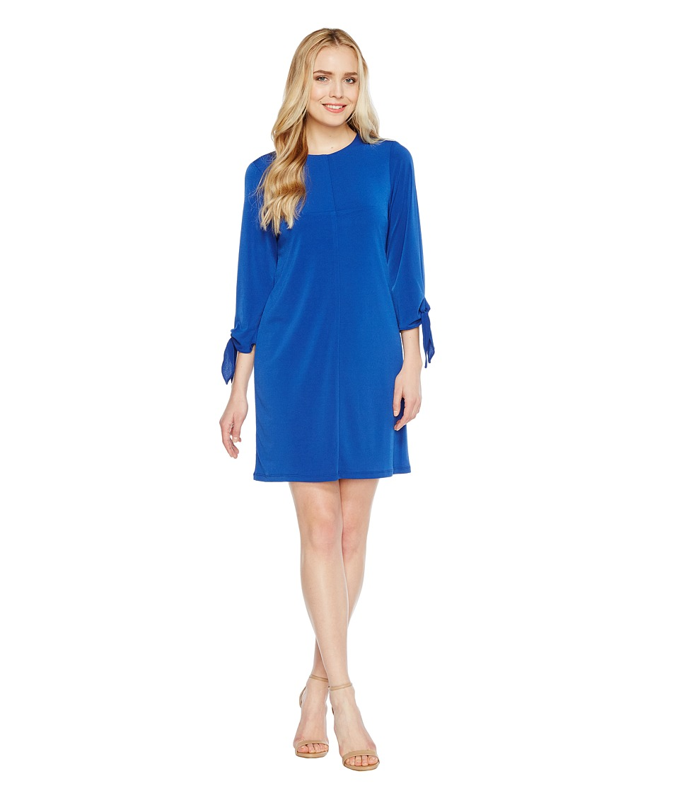 Christin Michaels - Tani Tie Sleeve Shift Dress (Cobalt) Women's Dress