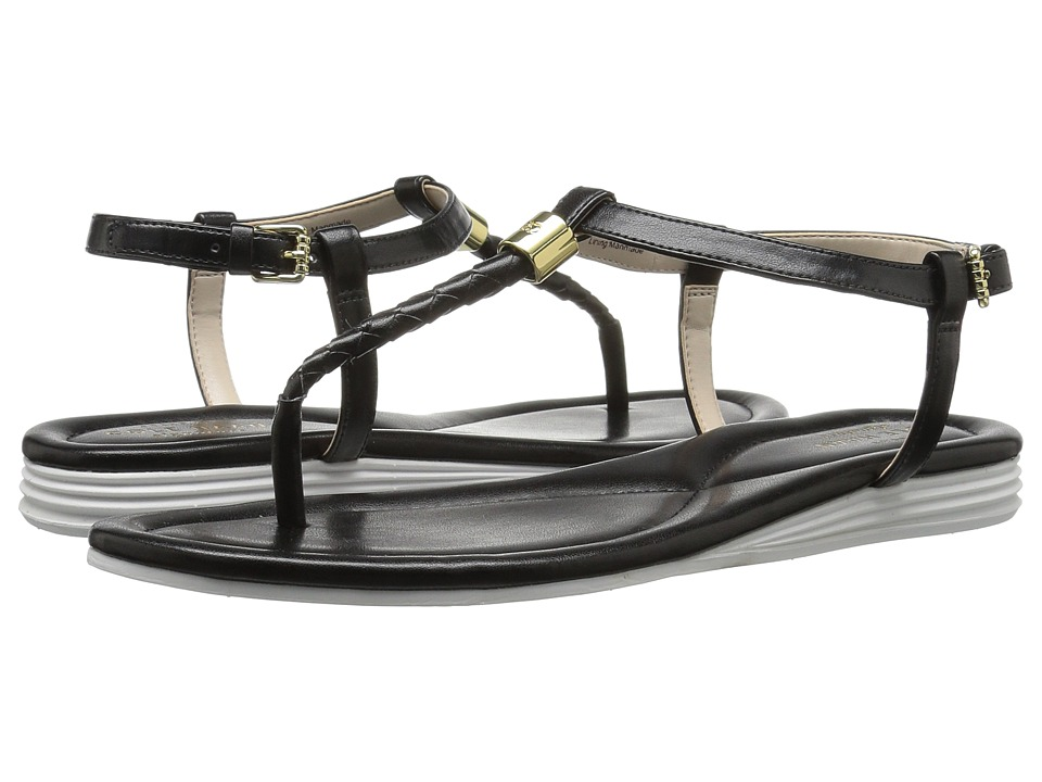 Cole Haan Original Grand Braid Sandal II (Black Leather) Women