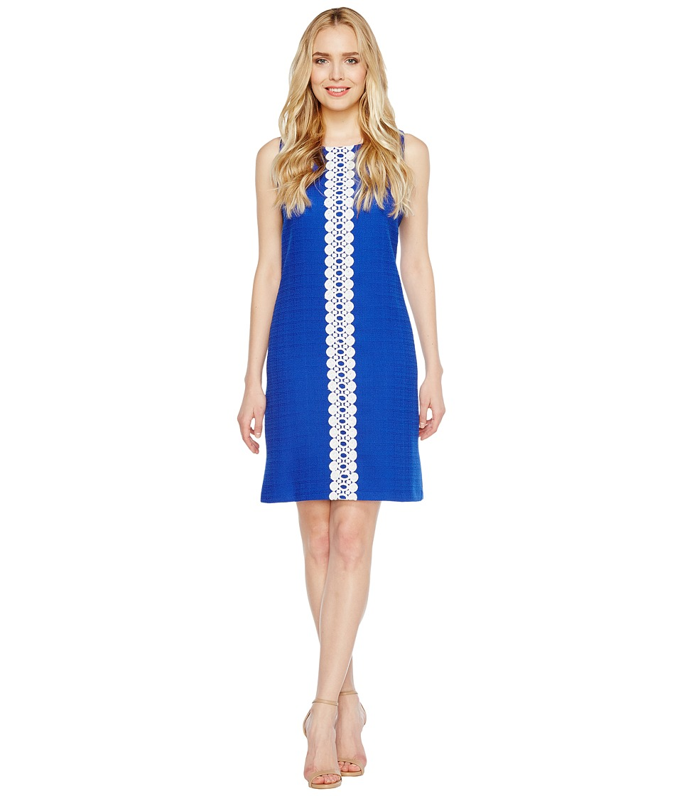 Christin Michaels Vera Sleeveless Shift Dress (Royal) Women