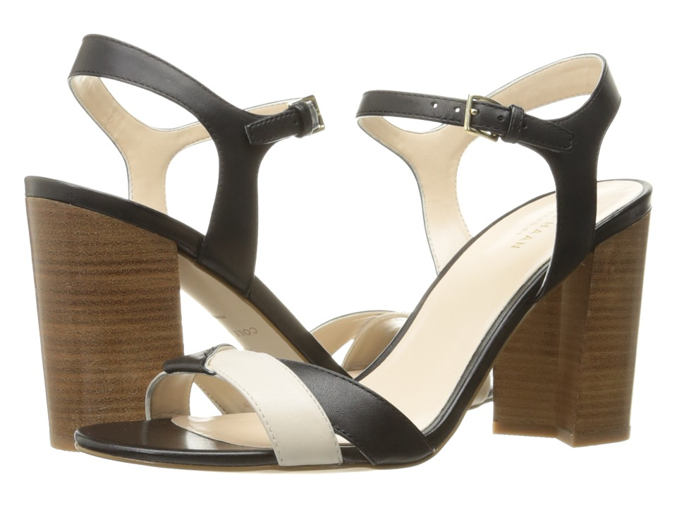 Cole Haan Florena Sandal II (Black Leather/Ivory Leather) Women