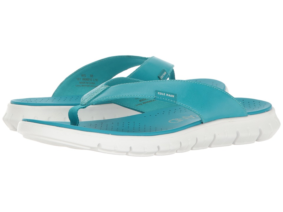 Cole Haan - Zerogrand Thong Sandal (Capri Breeze Leather/Optic White) Women's Sandals