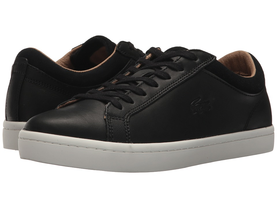 Lacoste - Straightset (Black) Men's Shoes