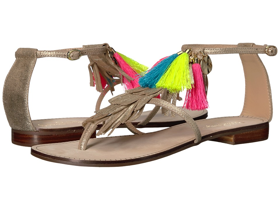 Lilly Pulitzer Zoe Sandal (Gold Metal) Women