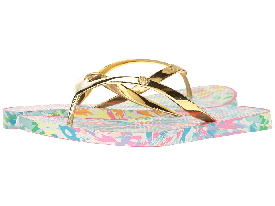 Lilly Pulitzer - Pool Flip-Flops (Multi Sparkling Sands) Women's Sandals