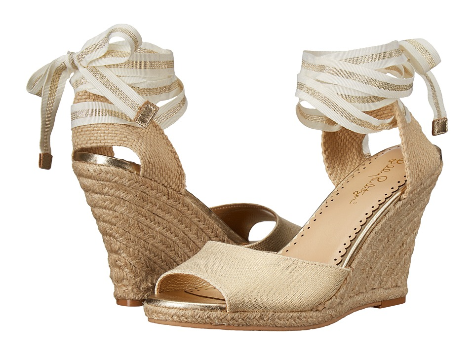Lilly Pulitzer - Alyssa Wedge (Gold Metal) Women's Wedge Shoes