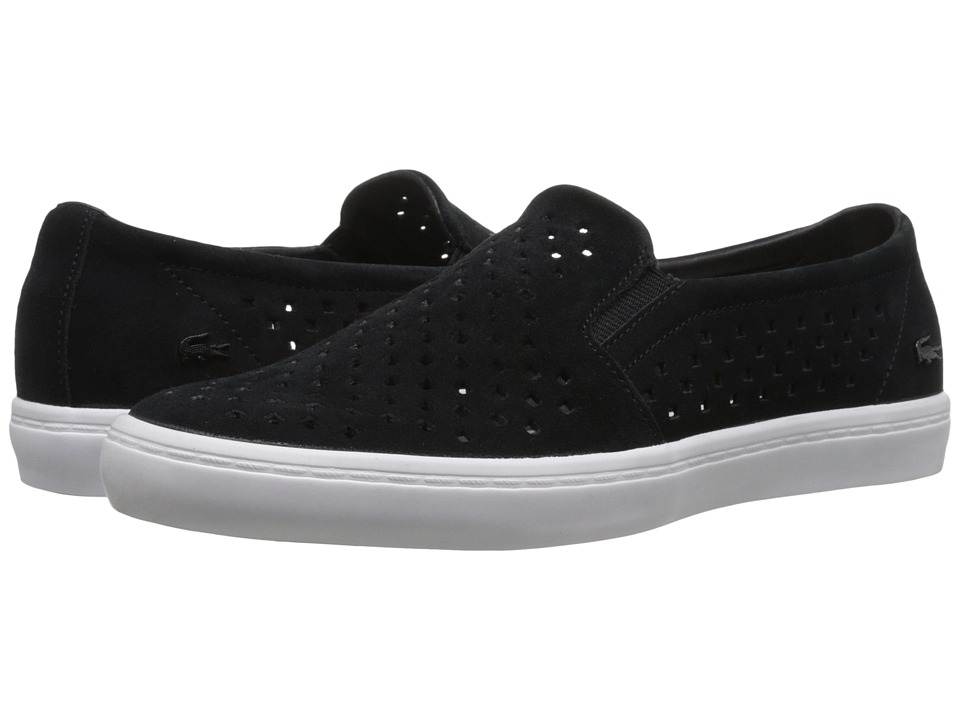 Lacoste - Gazon Slip-On 216 1 (Black/White) Women's Shoes