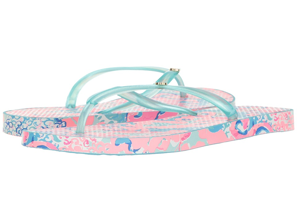 Lilly Pulitzer - Pool Flip-Flops (Coral Reef) Women's Sandals