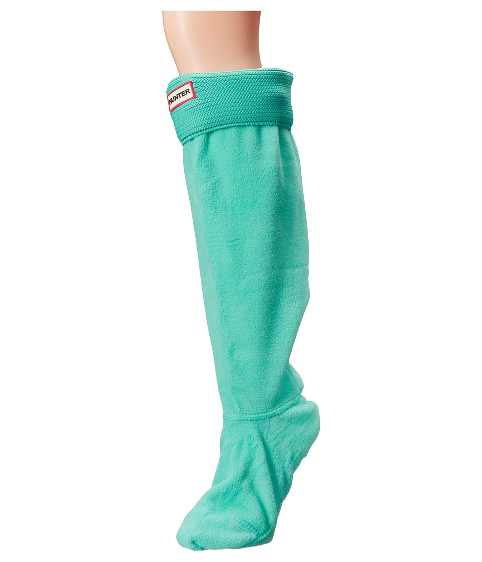 Hunter - Original Tall Boot Sock Garter Cuff (Tourmaline Green) Women's Crew Cut Socks Shoes