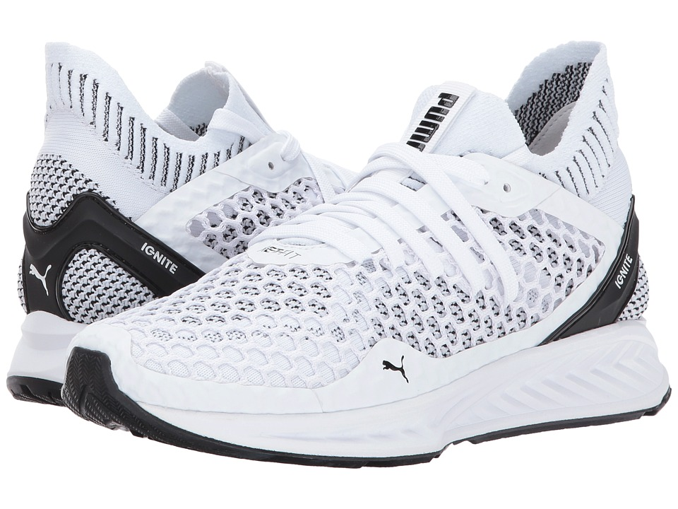 PUMA - Ignite Netfit (Puma White/Puma Black) Women's Shoes