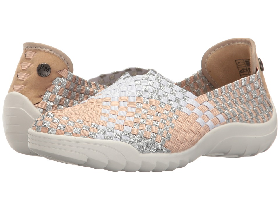 bernie mev. - Rigged Fly (Blush/White/Silver Metallic Combo) Women's Slip on Shoes