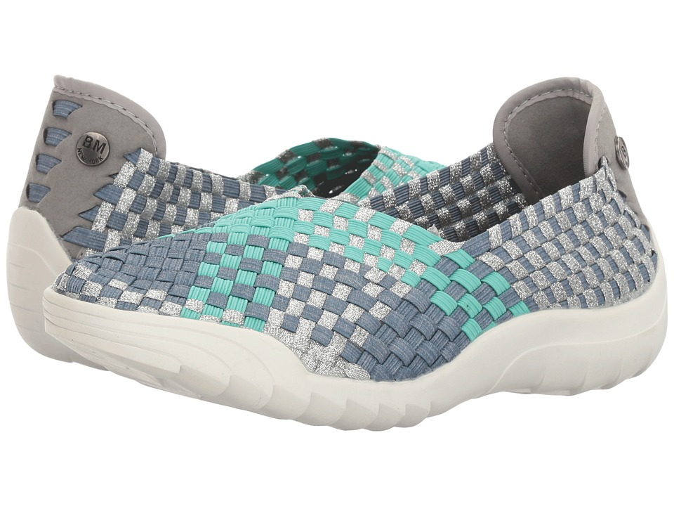 bernie mev. - Rigged Fly (Light Jeans/Mint/Silver Metallic Combo) Women's Slip on Shoes