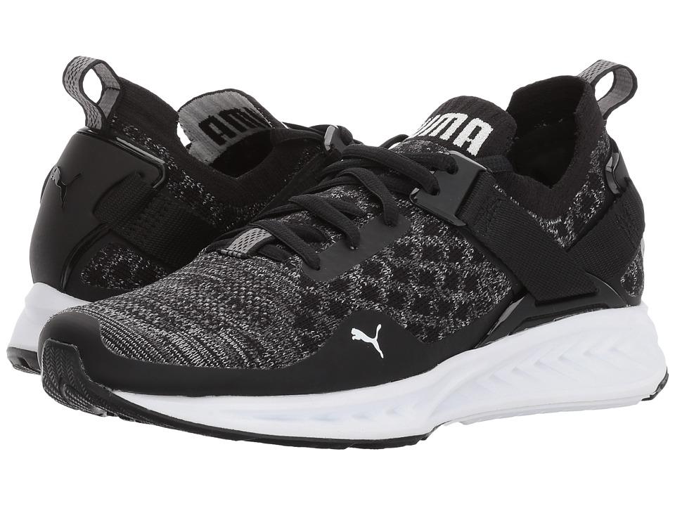PUMA - Ignite evoKNIT Lo (Puma Black/Quiet Shade/Puma White) Women's Running Shoes