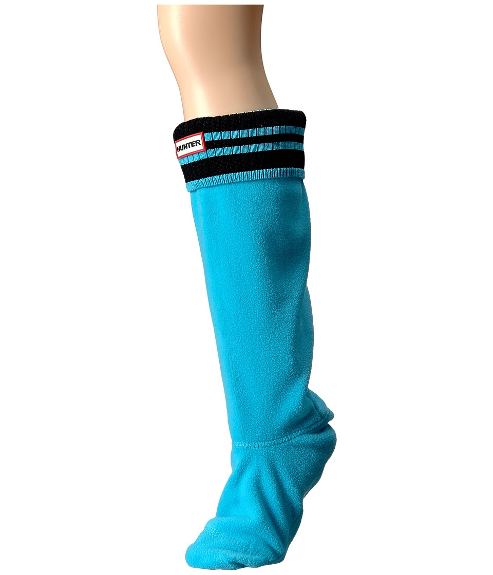 Hunter - Original Tall Boot Sock Rib Cuff (Sky Blue/Black) Women's Crew Cut Socks Shoes