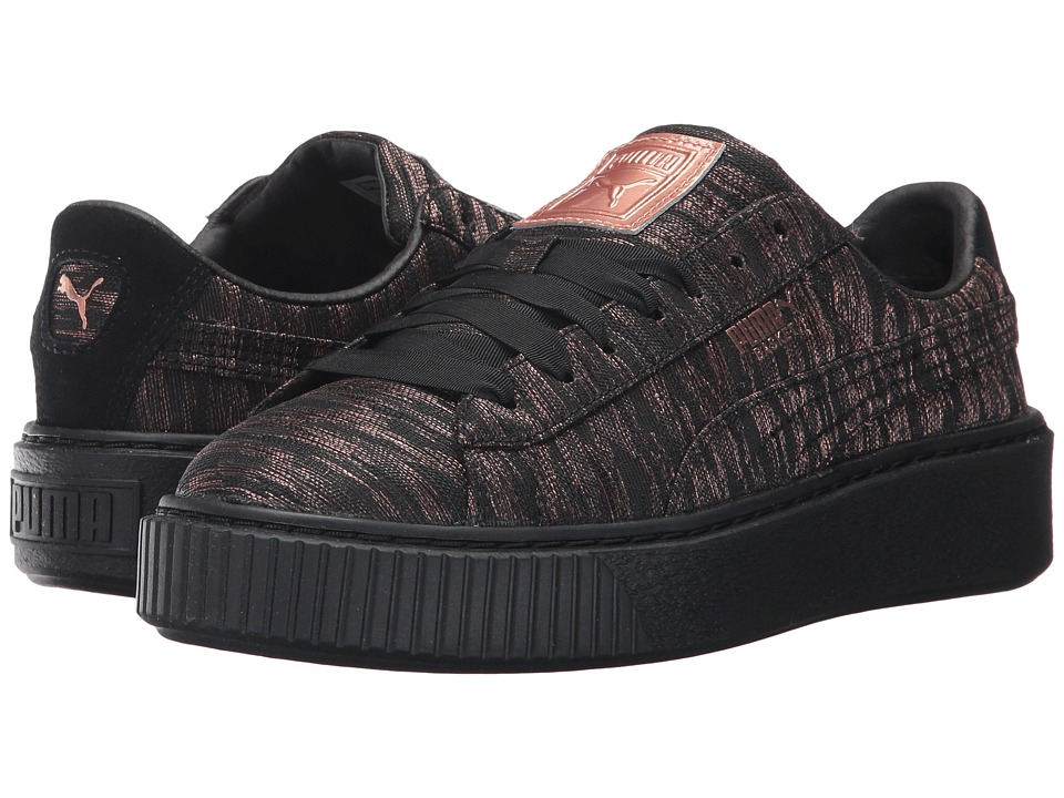 PUMA - Basket Platform VR (Puma Black/Puma Black) Women's Shoes