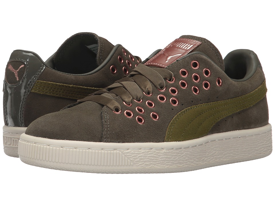 PUMA - Suede XL Lace VR (Olive Night/Avocado) Women's Shoes