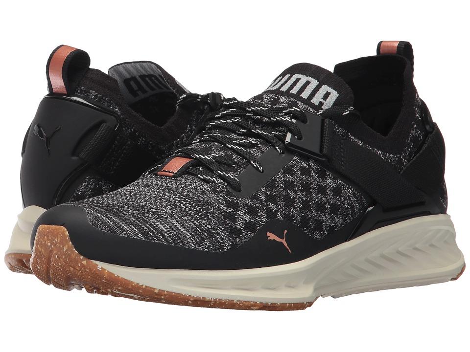 PUMA - Ignite Evoknit LO VR (Puma Black/Quarry/Quiet Shade) Women's Shoes