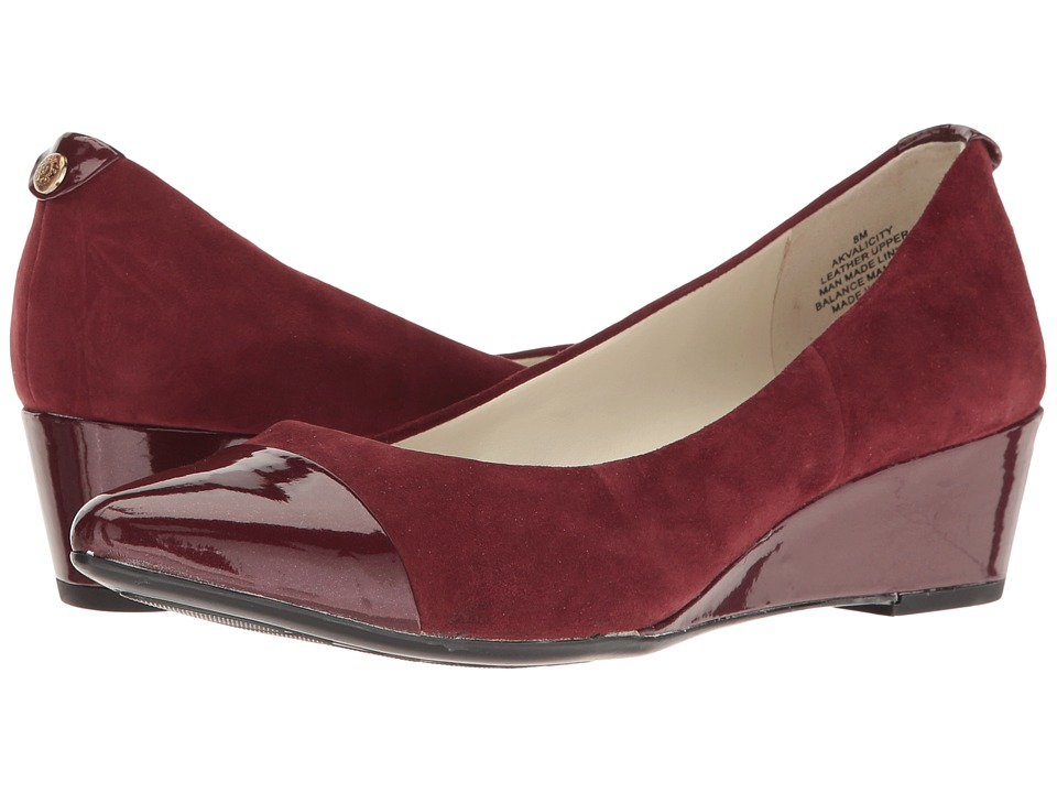 Anne Klein - Valicity (Wine/Wine Suede) Women's Shoes