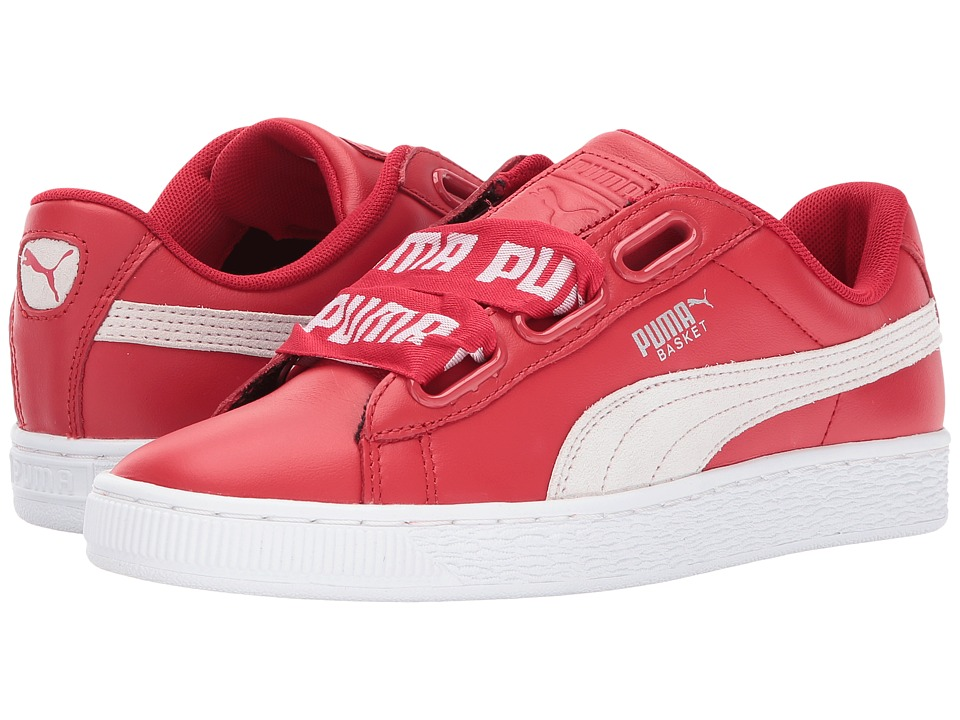 PUMA - Basket Heart Denim (Toreador/Puma White) Women's Shoes