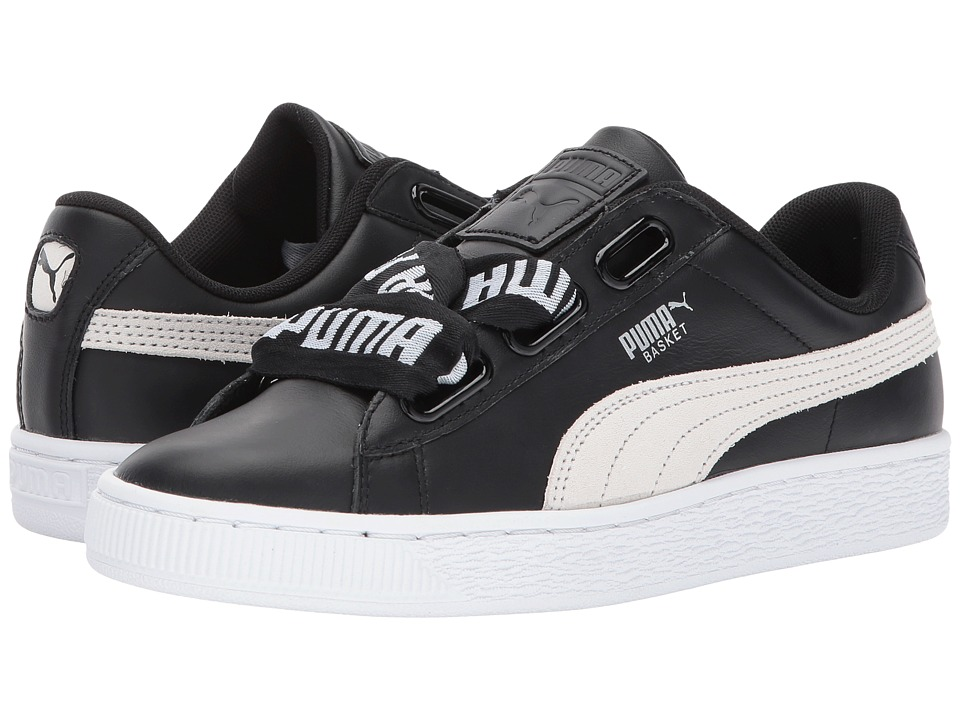 PUMA - Basket Heart Denim (Puma Black/Puma White) Women's Shoes