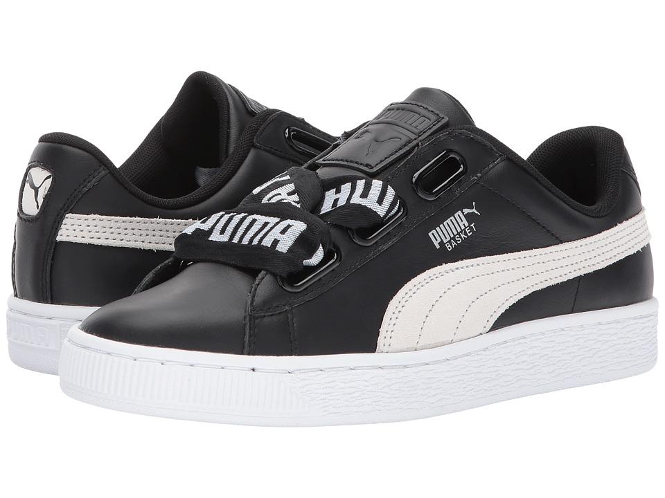 PUMA - Basket Heart Denim (Puma Black/Puma White) Women's Shoes